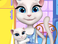 Angela Cooking Cake