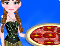 Anna Cooking Muffaletta Pizza