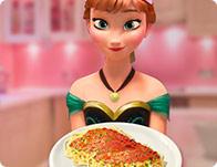 Anna Cooking Spaghetti