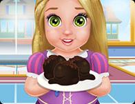 Baby Rapunzel Cooking Cake Balls
