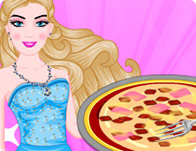 Barbie Cooking Scrambled Egg Pizza