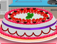 Cooking Strawberry Cake