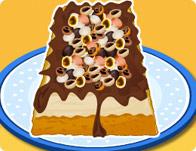 Easy Mocha Chip Ice Cream Cake