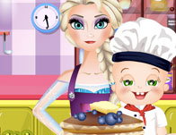 Elsa and Rosy Pancakes Day