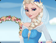 Elsa Bride Cooking Wedding Dish