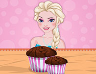 Elsa Cooking Banana Cream Muffins