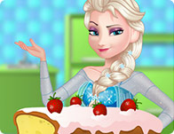 Elsa Cooking Pound Cake