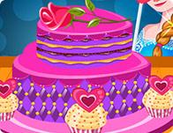 Elsa's Valentines Day Cake