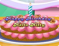 Hello Kitty Birthday Cake Cooking Games