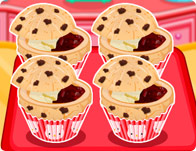 Hello Kitty Chocolate Chip Jelly Muffins