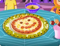 Jack o' Lantern Pizza