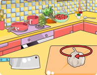 Mia Cooking Spaghetti Bolognese