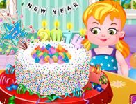 New Year Confetti Cake