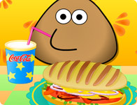 Pou Cooking Hot Dog