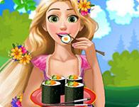 Pregnant Rapunzel Sushi Cravings