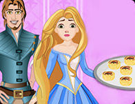 Rapunzel And Flynn Cooking Pizza Buns