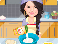 Selena Gomez Cooking Cookies