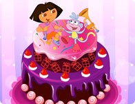 Yum Yum Dora Cake Decor