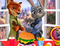 Zootropolis Burger Cooking